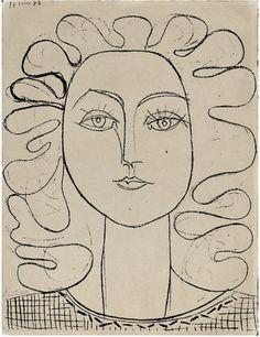 Pablo Picasso: Francoise, Lithograph 1946. #picasso #art