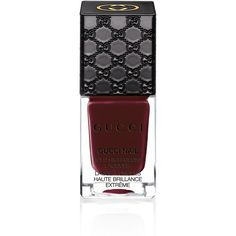 Gucci Dark Romance, Bold Bold High-Gloss Lacquer ($24) ❤ liked on Polyvore featuring beauty products, nail care, nail polish, nails, makeup, beauty, cosmetics, gucci beauty, gucci and shiny nail polish