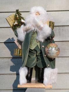 "Very RARE 1474 Lynn Haney 2004 ""Doves of Peace"" Original Box Santa w Globe   eBay"