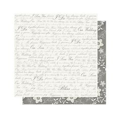 Mr. & Mrs: Words 12 x 12 Double-Sided Paper ($1.25) ❤ liked on Polyvore
