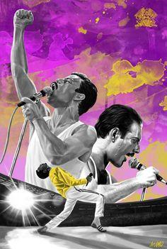 BOHEMIAN RHAPSODY Bryan Singer, Queen Art, Pop Culture, Musicals, Bohemian, Multimedia, Movie Posters, Movies, Fictional Characters