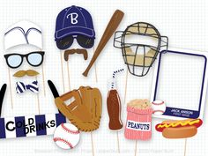 Baseball Photo Booth Props, Navy Sports Photobooth Props, Vintage Baseball Party, Home Run, Baseball Birthday, Sports Party, Sports Birthday par PaperBuiltShop sur Etsy https://www.etsy.com/ca-fr/listing/270366103/baseball-photo-booth-props-navy-sports