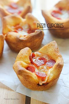 Pizza Cupcakes are so easy to make and are great for an after-school snack, appetizer or light meal along with a side salad.