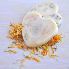 Floral Lotion Bars Without Beeswax