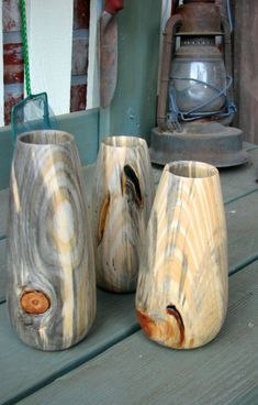 here are some of my high end turnings. spalted hackberry hollow form with african blackwood base and finial with captive ring. once in…
