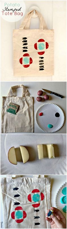 Potato stamps are inexpensive, easy to make, can be made into nearly any shape…