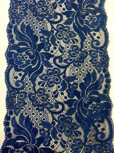 BLUE/NAVY LACE/Vintage/Trim/Weddings/Table runner/1 Yard on Etsy, $6.50
