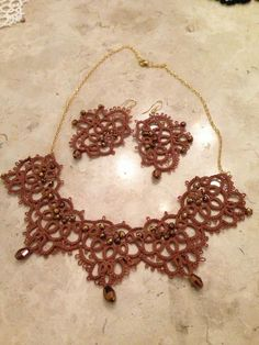 Necklace and earring.