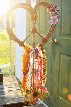 Love Gypsy Heart Wreath Peace Dream Catcher @Caitlin Burton Burton Burton Steele                                                                                                                                                                                 More