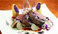 Aureole 18 oz Bone in Beef Filet Mignon; Grilled Spring Onions, Purple Kale, ...