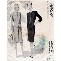 Vintage pattern, style, dress Image from Etsy