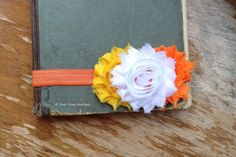 Traditional CANDY CORN Headband Autumn Headband by LilPinkGoose, $8.95