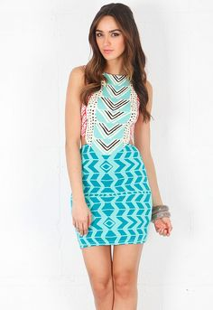 Mara Hoffman Cut Out Mini Dress in Luau Red/Teal  $220 - #WanteringTrends #Prints For more Spring trends visit www.springtrends2013.wantering.com