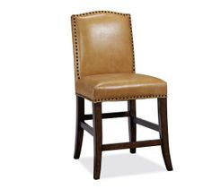 Barrington Dining Chair - Cognac Leather | Pottery Barn