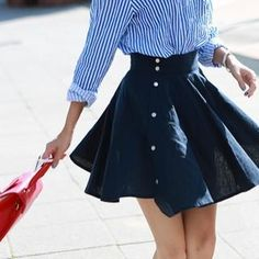 Buy 'migunstyle – Button-Side Pleated Skirt ' with Free International Shipping at YesStyle.com. Browse and shop for thousands of Asian fashion items from South Korea and more!