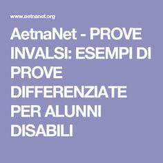 AetnaNet - PROVE INVALSI: ESEMPI DI PROVE DIFFERENZIATE PER ALUNNI DISABILI