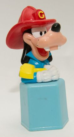 Disney Goofy Fireman with Ax Blue Base PVC Figure