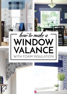 Learn how to make a window valance (or cornice box or pelmet box) using inexpensive foam insulation from the hardware store! Diy Home Decor Projects, Home Crafts, Cornice Box, Diy Home Accessories, Home Upgrades, Do It Yourself Home, Valance, Curtains, Home Hacks