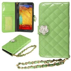 HHI Samsung Galaxy Note 3 Quilted Purse Wallet Case GREEN with Crystal Flower Bling and Hand Strap (Package include a HandHelditems Sketch Stylus Pen) Handhelditems,http://www.amazon.com/dp/B00F10YBUO/ref=cm_sw_r_pi_dp_Gt1htb09X2A0FVMZ