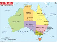 Interesting facts about Australia for Kids Australia For Kids, Australia Country, Australia Map, Western Australia, Travel Maps, New Travel, Facts About Australia, Australian Capital Territory, Australian Politics