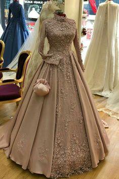 Muslimah Wedding Dress, Muslim Wedding Dresses, Dress Muslimah, Wedding Hijab, Gown Wedding, Fall Wedding, Wedding Ideas, Indian Wedding Gowns, Indian Gowns Dresses