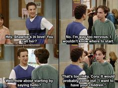Hahaha, love Boy Meets World