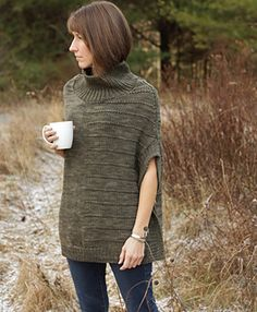 Gale by Alicia Plummer on Ravelry. A straight-line tunic-style poncho knit in bulky. Gorgeous!