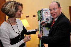 In occasione del 7° world star ski organizzato dal principe Alberto di Monaco