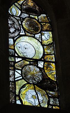 Chedworth St Andrew chancel north lancet 15th century glass
