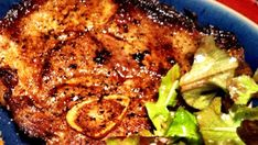 Budget-friendly Sunday Supper this week. I love me some pork chops, and this is the way I like to prepare them. High heat & and a short cook time... in cast iron pan. Oh... and with bacon grease! Delish!