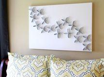 3 Proyectos para crear arte para tus paredes: Arte de papel higiénico