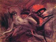Reclining Nude by Giovanni Boldini, 1930 Impressionism nude painting (nu) — Artful for Mac Giovanni Boldini, John Singer Sargent, Arte Ninja, Oil Canvas, Learn Art, Belle Epoque, Marchesa, Erotic Art, Oeuvre D'art