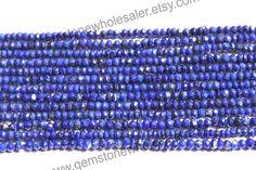 Lapis Lazuli Faceted Roundel Quality AA / by GemstoneWholesaler