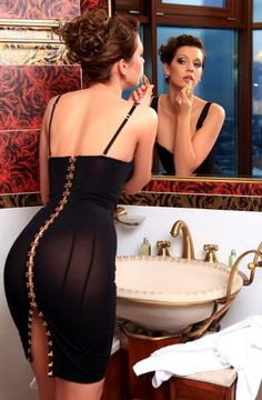 Super sexy fitted black dress...
