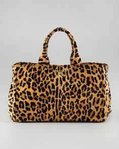 Prada Bag - Love this - wear all black or beige and have a statement piece......Cavallino Tote Bag - Neiman Marcus