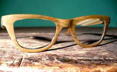 Wooden eyeglass frames, from Urban Spectacles, Chicago
