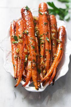 honey garlic butter roasted carrots recipe 2