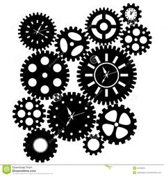 Time Clock Gears Clipart - Download From Over 53 Million High Quality Stock Photos, Images, Vectors. Sign up for FREE today. Image: 22109203