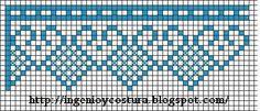 Mi Espacio!!!: Más gráficos de corazones en crochet