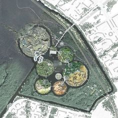 Image 19 of 23 from gallery of New Saint Petersburg Zoo / Françoise N'Thépé and Aldric Beckmann. Landscape And Urbanism, Landscape Concept, Landscape Drawings, Urban Landscape, Zoo Architecture, Landscape Architecture Design, Site Development Plan, Drawing Sites, Master Plan
