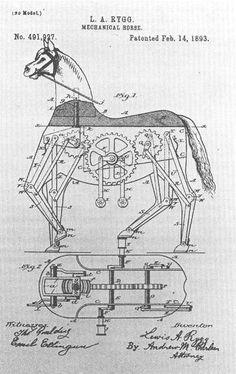 Mechanical horse patent 1893