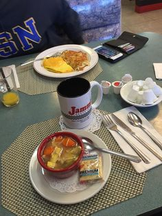 I Finally got up and out of my sofa... Hope I can keep this soup down ... ! Thanks to my baby girl Tolia, I need to cheer up and start feeling better #jammsbestlunch — at Jamms Restaurant.