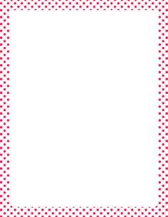Pink and White Polka Dot Border