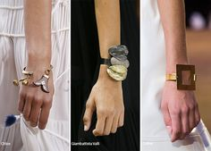 Spring/ Summer 2016 Jewelry Trends: Cuff/ Bauble Bracelets & Bangles  #trends #accessories #jewelry