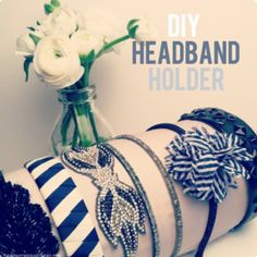 Cool DIY Headband Holder! It so needs to be done... to many head bands and so little time.