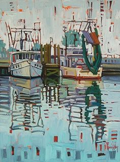 """""""Reflections In The Fog,"""" by Rene' Wiley by Rene' Wiley Gallery Oil ~ 24 x 18"""