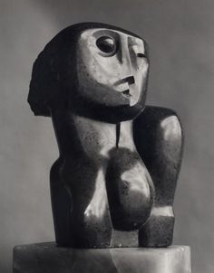 Henry Moore - Head and Shoulders (1927) verde di prato, 45.7 cm in height