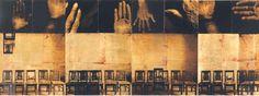 autor:LUIS GONZÁLEZ PALMA // guatemala // Un Lugar sin reposo // Técnica mixta, película ortocromática y lámina de oro