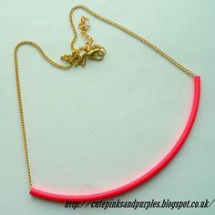 Neon necklace http://cutepinksandpurples.blogspot.co.uk/2013/12/sammydresscom-haul-and-my-shopping.html