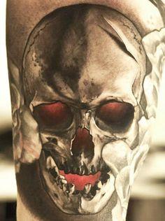 Tattoo Artist - Niki Norberg  | www.worldtattoogallery.com/skull-tattoo
